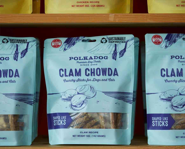 Clam Chowda Dehydrated Dog & Cat Treats