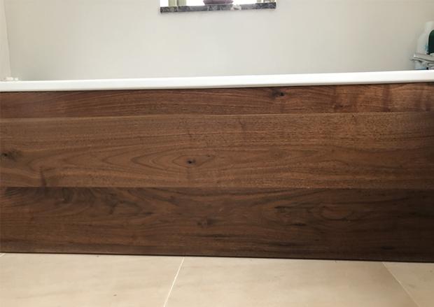 Engineered Wood Flooring used as Cladding for Baths