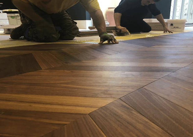 American Black Walnut Chevron Flooring - How to Finish
