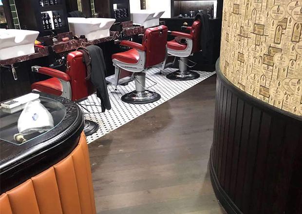 RAC Club Pall Mall Barber Shop Wood Flooring