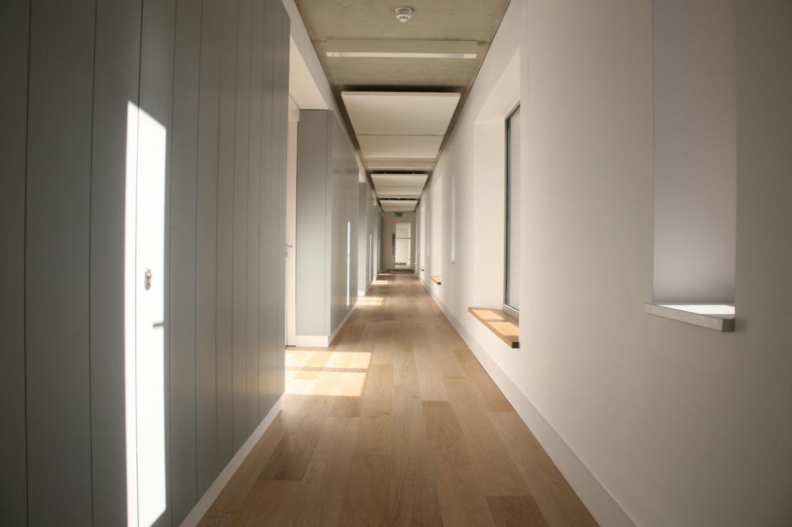 Limed Oak floor in Girton College