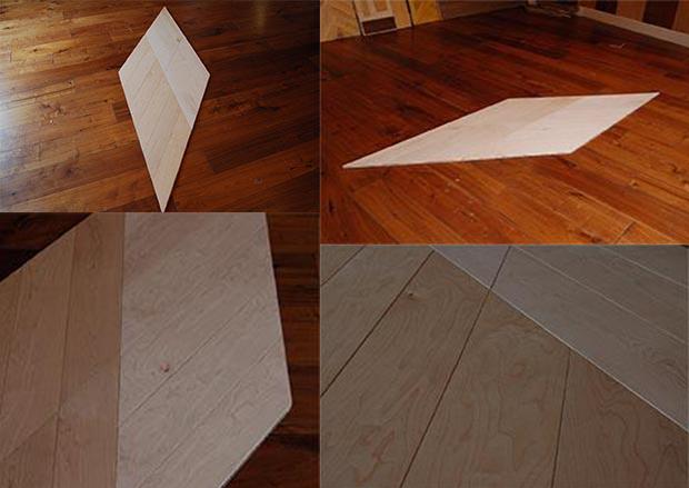 Special Design Chevron type White Oiled Maple Flooring