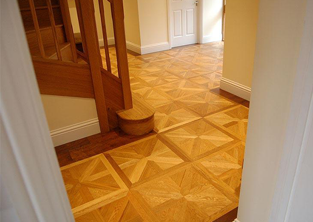 Natural Oiled Parquet Panels in a Country Home