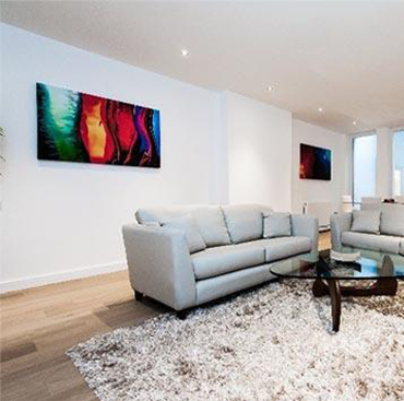 Lightly Fumed Oak Flooring Raw Timber Oil Finish in London Home