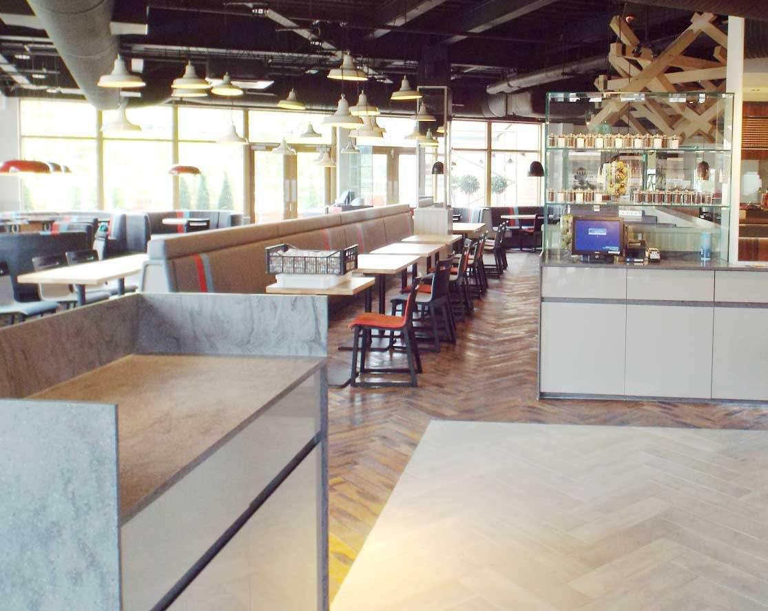 Parquet Flooring in a Strada Restaurant