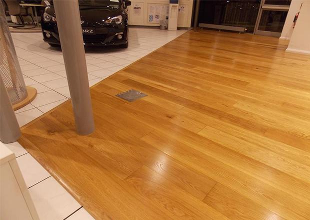 Wood Flooring in Volvo Showrooms