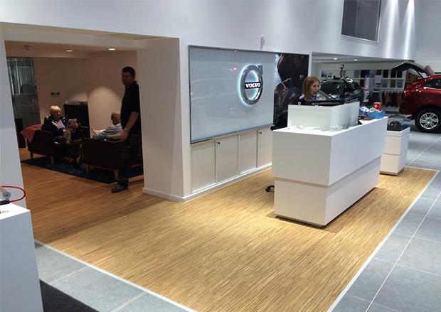 Fineline Oiled Oak flooring at Malton Volvo
