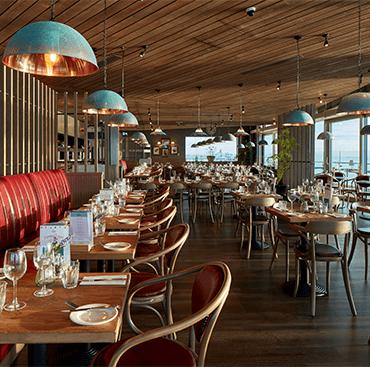 Engineered Wood Flooring in a Bistro Le Pierre Restaurant