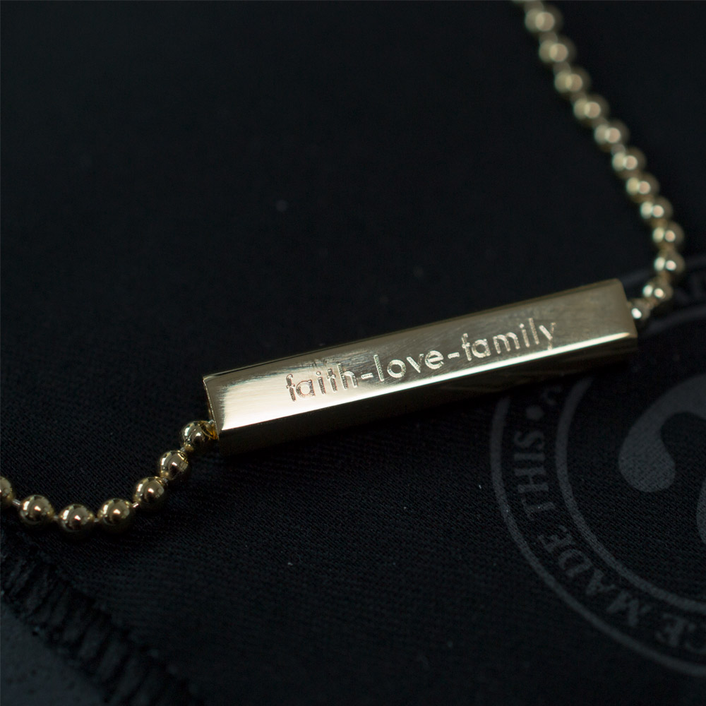 Engrave a name, initial, some lyrics or personal message. Get creative!