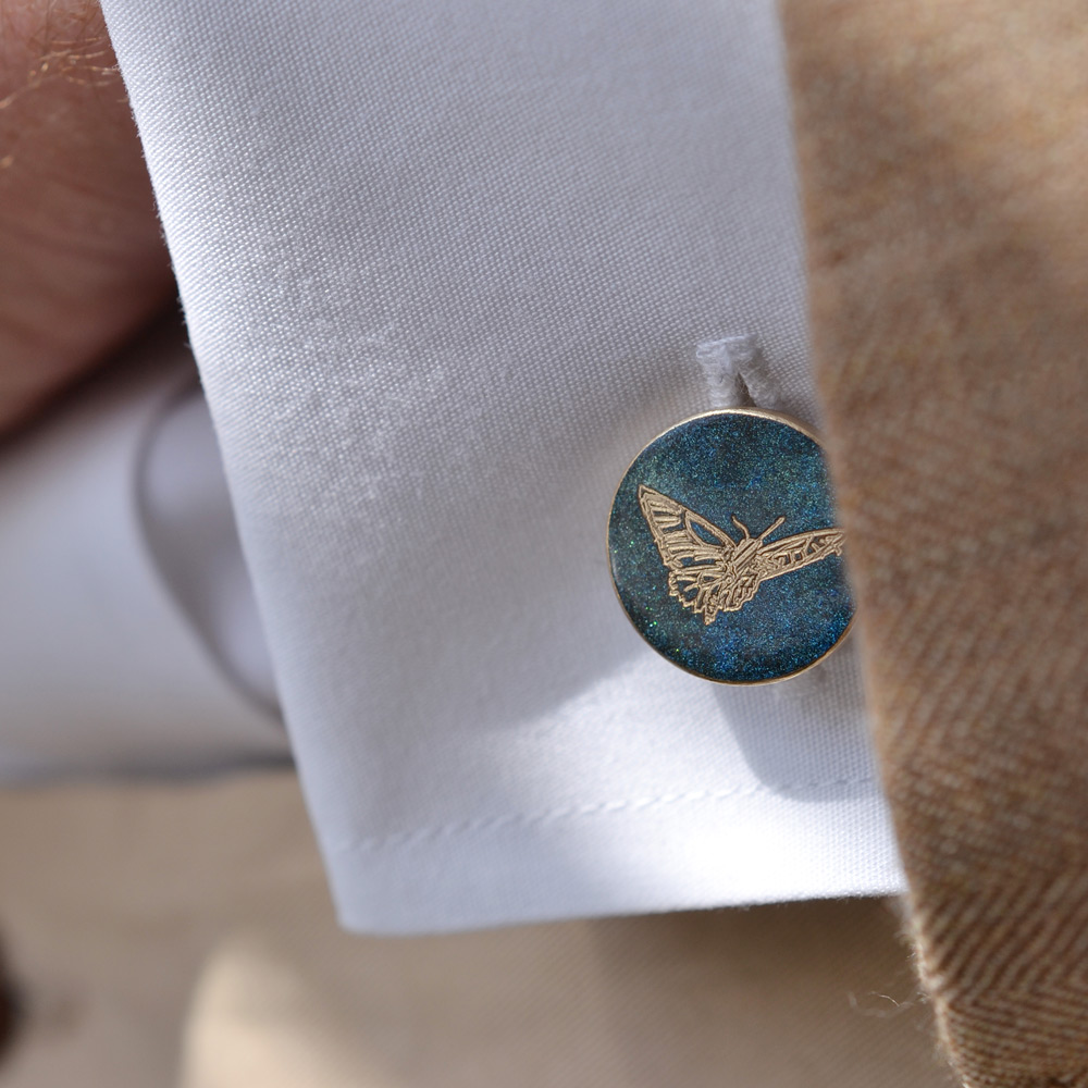 "The Butterfly is a strong and powerful representation of life symbolising endurance, hope and change. Profits from the Butterfly collection are donated to the Cavell Nurses' Trust and the Fashion & Textile Children's Trust...To our hero's and those in need. ""Just absolutely beautiful. AMT is now my go-to cufflink brand."" <em>Yi</em>"