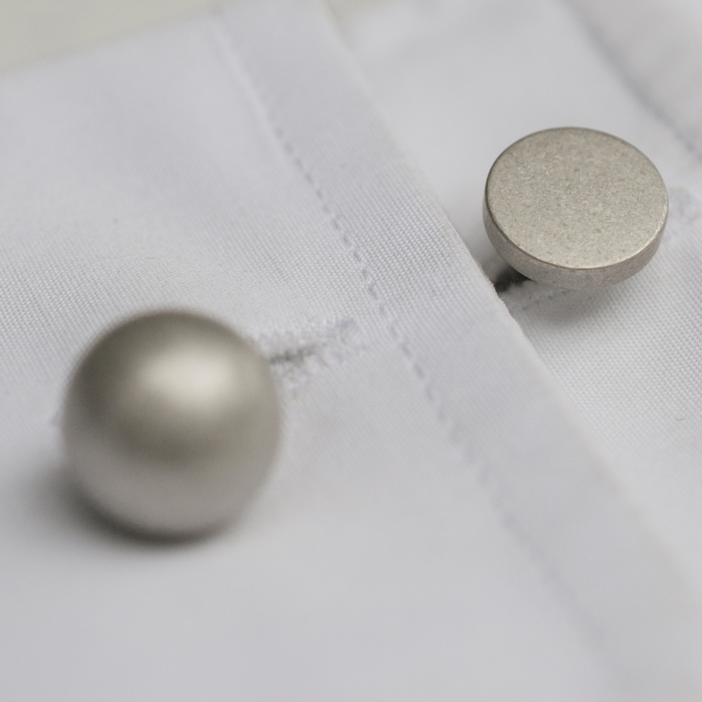 """The Grafton silver cufflinks are so unique - They are so chic and impactful."" <em>Jennifer</em>"