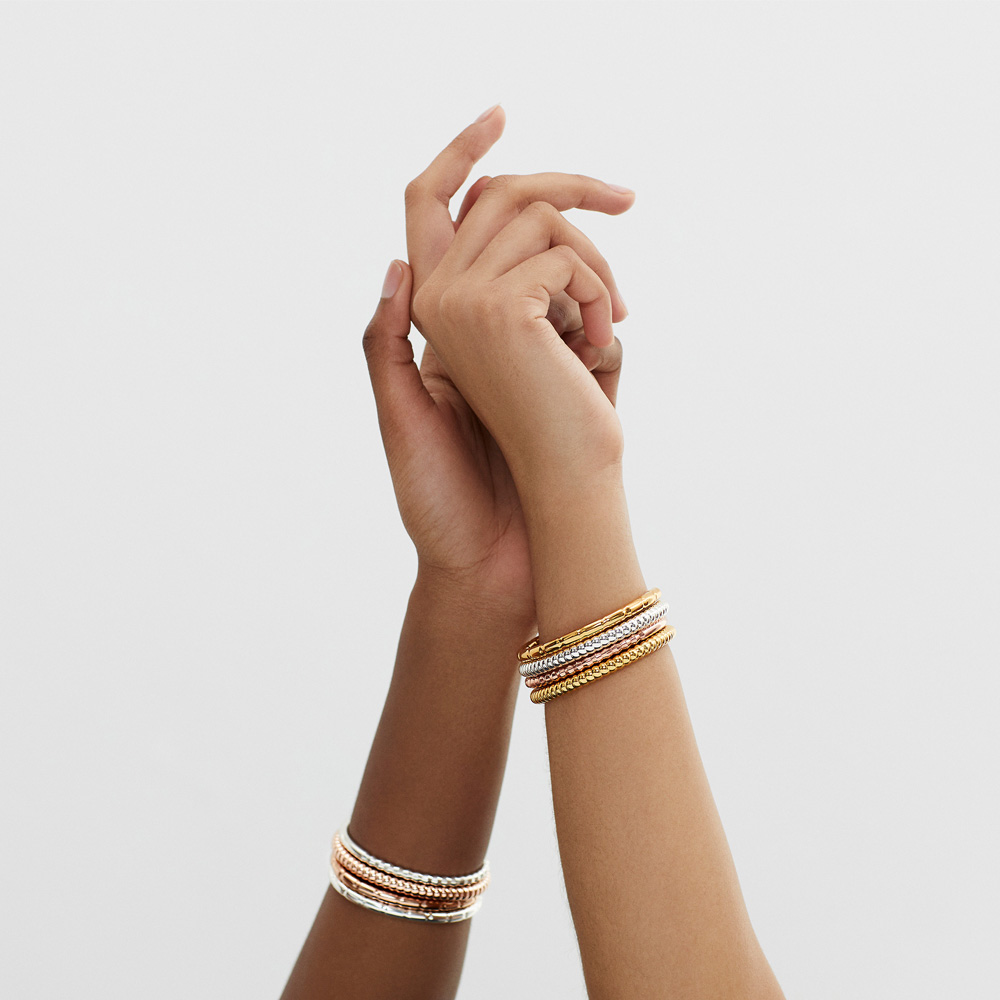 """""""Stunning bracelets that complement each other beautifully."""" <em>Cassie</em>"""
