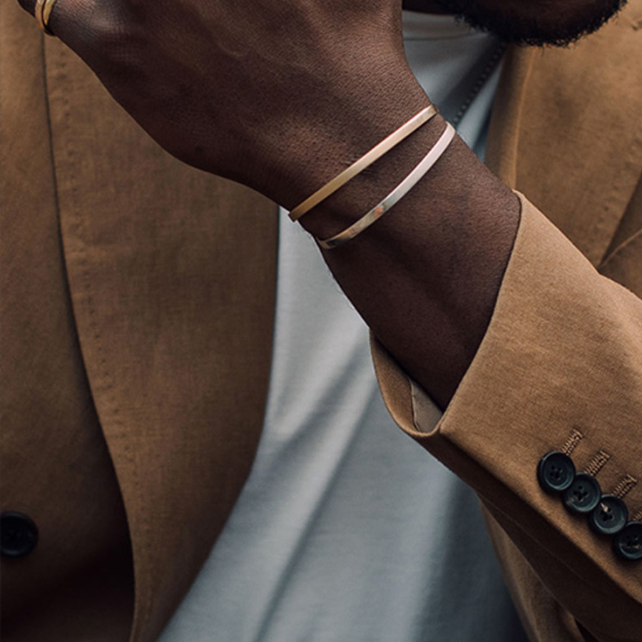 """""""Elegant and understated...it can be worn with literally anything from a suit to a sweatshirt. If you don't have any bracelets, this is a great way to start."""" <em>Daniel</em>"""