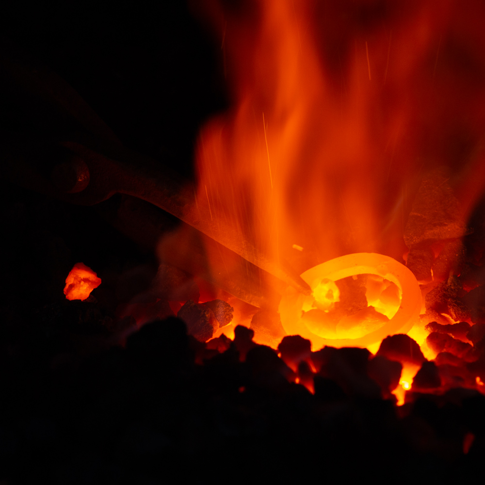 The collection is formed using a combination of hot and cold forging methods, drawing on traditional blacksmithing techniques dating back to as early as 1500BC.
