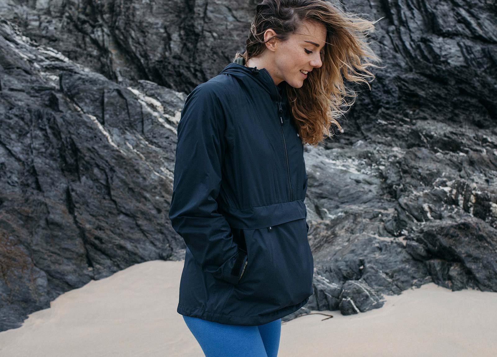 Premium matte fabric has a touch of stretch making the Rainbird perfect for running and cycling.