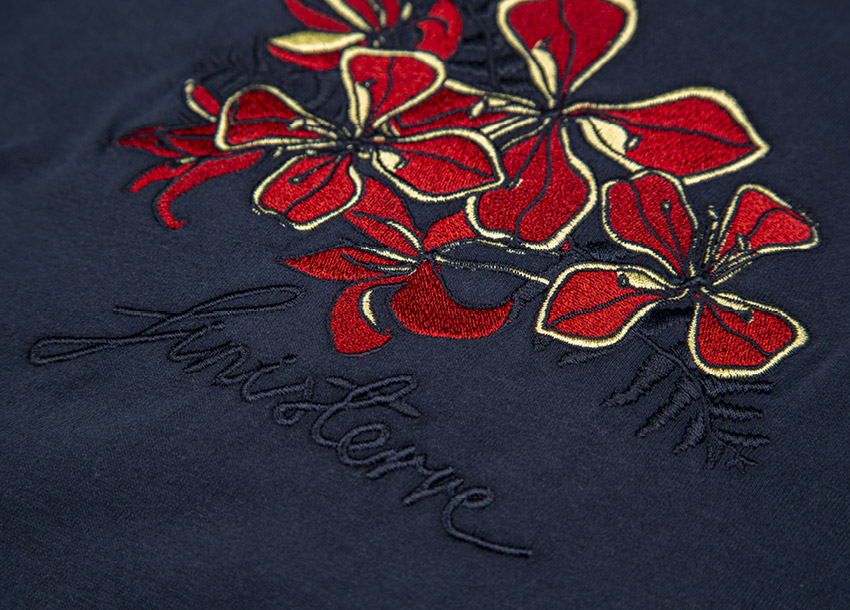 Kernowaii embroidery inspired by our local floral and fauna from around the workshop.