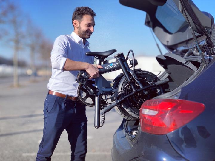 Eovolt Confort Folding Electric Bike Foldable in 10 seconds