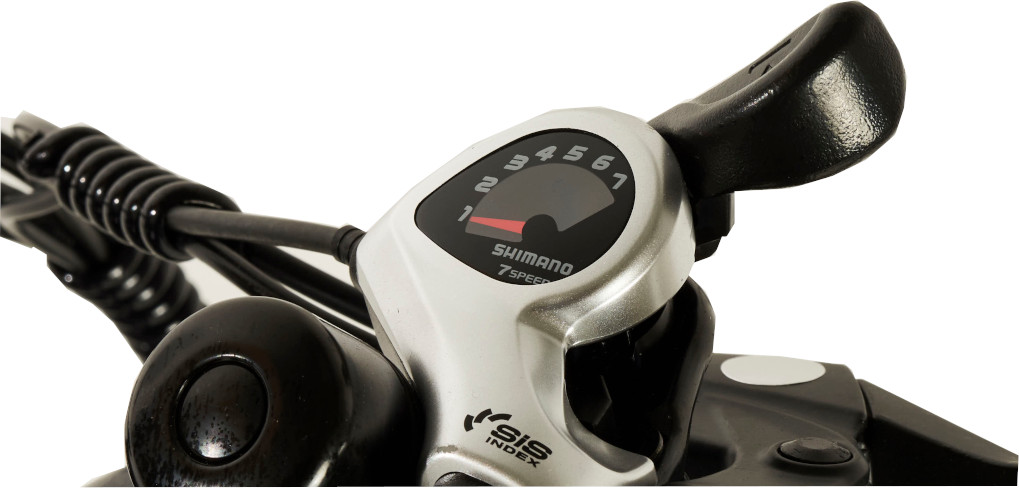 Knaap AMS Space Grey Edition E-Bike Shimano Seven Speed Gear Shift