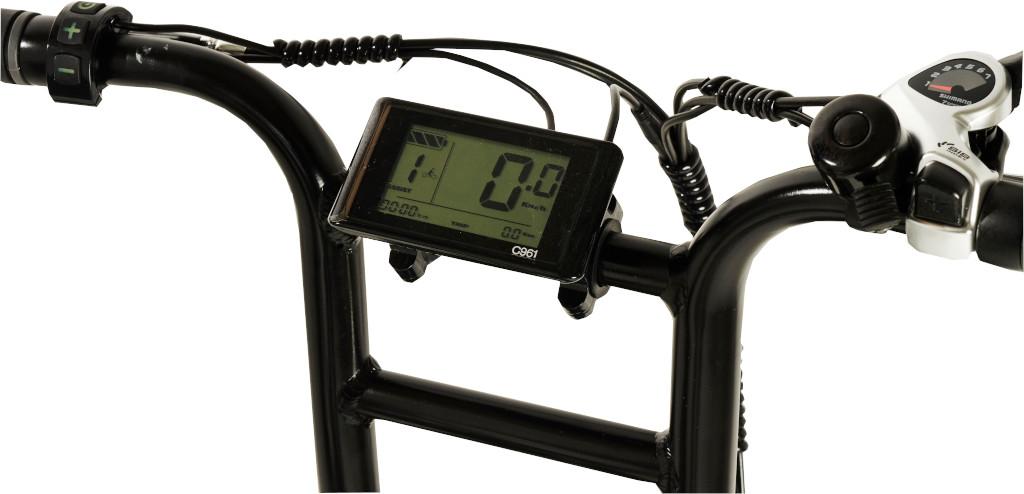 Knaap AMS Space Grey Edition E-Bike Large Illuminated LCD Display