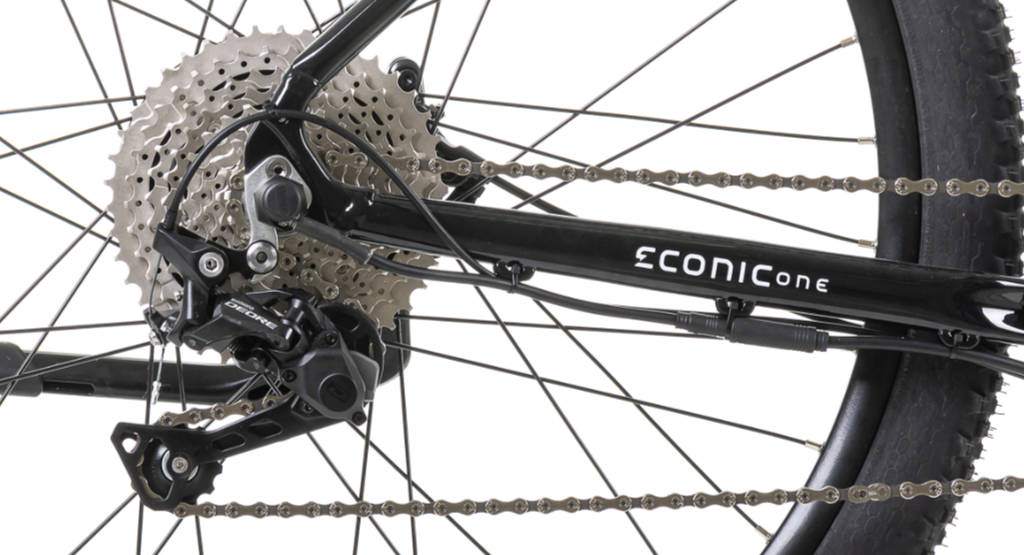 Red Econic One Cross Country E-Bike Shimano DEORE 10 Speed Shadow+