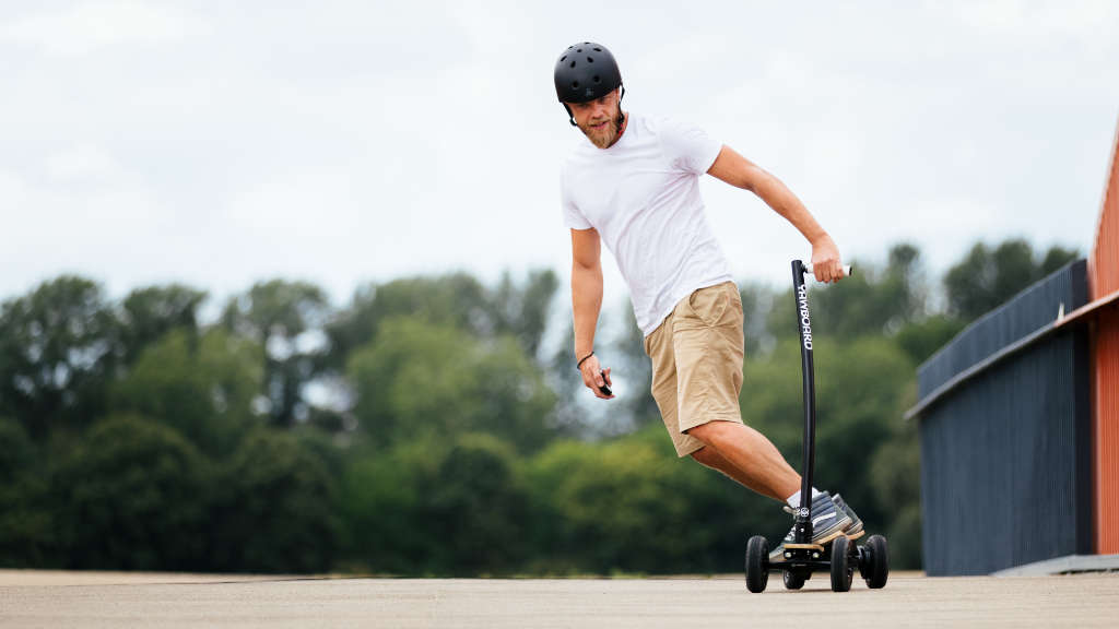 Yawboard All-Terrain E-Scooter with lean to steer ride style