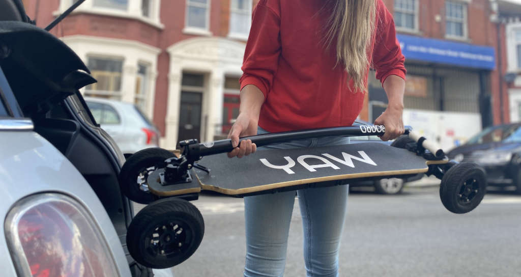 Yawboard All-Terrain E-Scooter is easy to store and transport